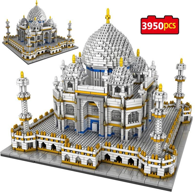 3950Pcs Landmarks Taj Mahal Model Building Block Toys for Kids Creator Blocks World Famous Toys for Kids Educational Bricks